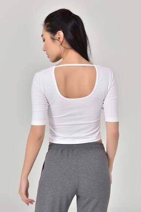 bilcee Beyaz Kadın Yoga T-Shırt GS-8105 4