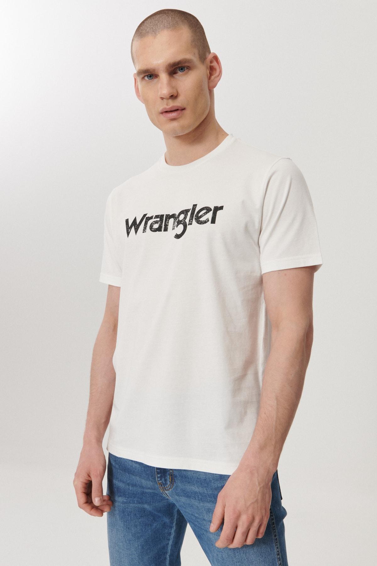 Wrangler Regular Fit Bol Kesim Sıfır Yaka %100 Koton Logolu Tişört 4