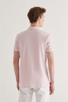 Avva Erkek Açık Pembe Polo Yaka Düz T-shirt A11b1174 2