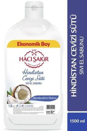 Hacı Şakir Hindistan Cevizi Sütü Nemlendirici Bakım Sıvı El Sabunu 1500 ml 0