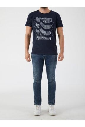 Ltb Erkek  Lacivert  Yazılı Kısa Kol Bisiklet Yaka T-Shirt 012208420960890000 2