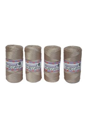 Maccaroni Polyester Makrome Ip - 200 Gr -230 M - Kalınlık : 2mm ( 4 Adet) 0