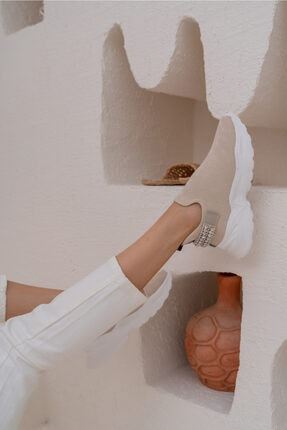 ANGELİNA JONES Costel Kadın Nude Trıko Taşli Ayakkabi 4