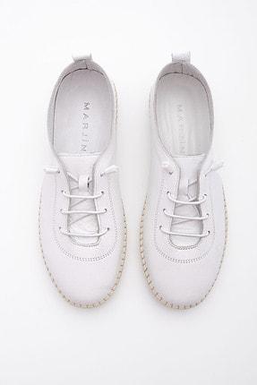 Marjin Kadın Beyaz Hakiki Deri Comfort Ayakkabı Ritok 4