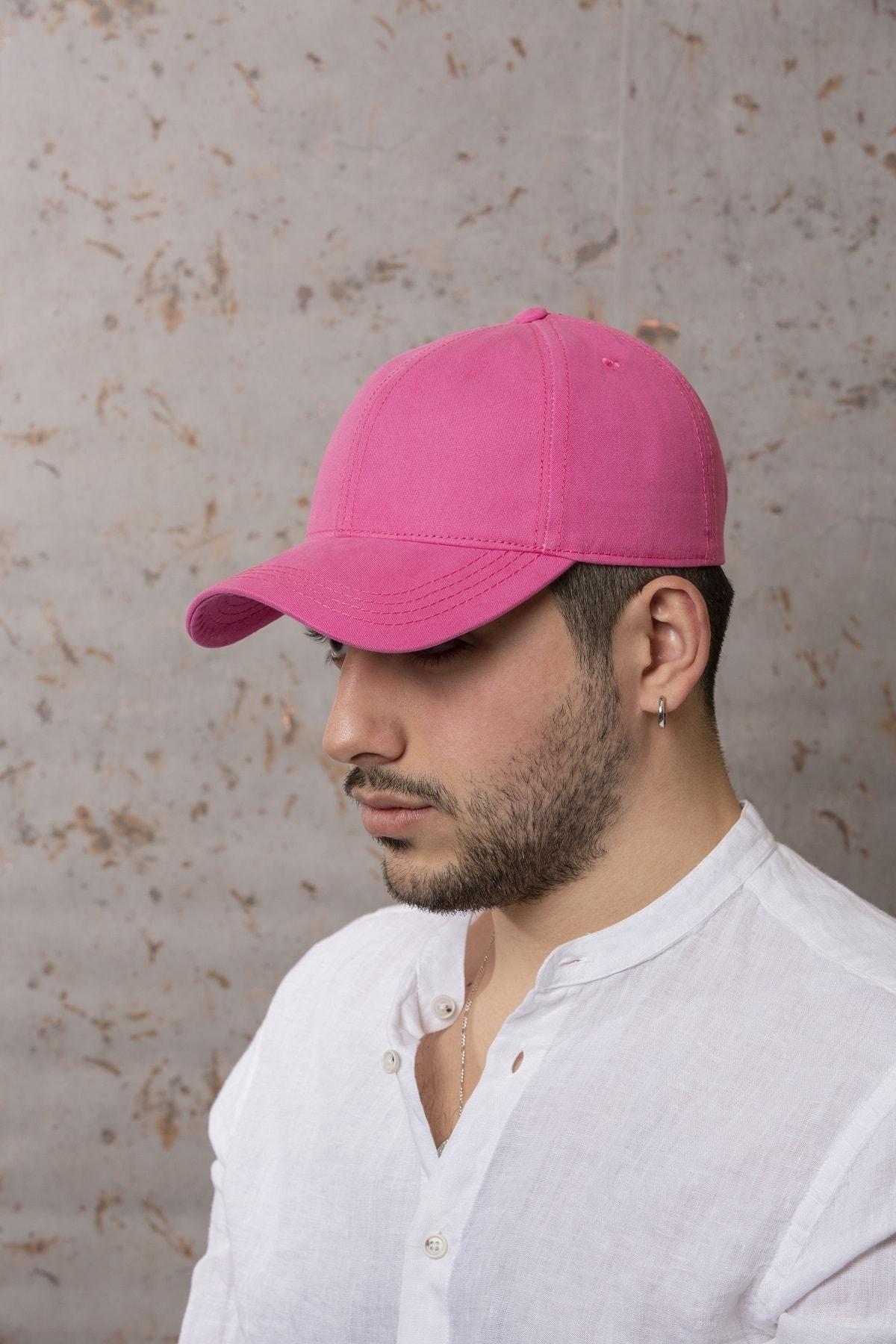 Pembe Şapka- Arkası Ayarlanabilir Şapka