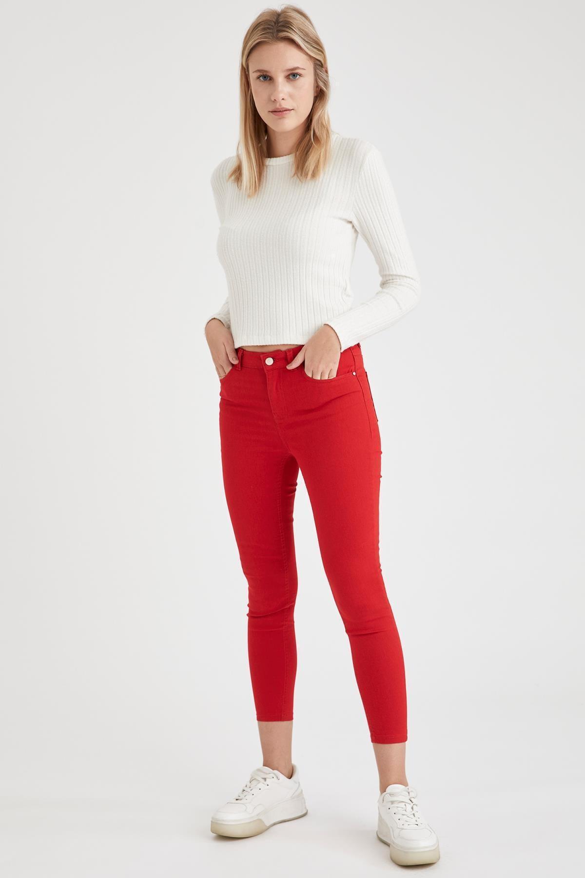 Kadın Kırmızı Dokuma Pantolon L5558AZ.19HS.RD51