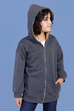 Picture of Erkek Çocuk Fermuar Kapatmalı Kapüşonlu Hırka