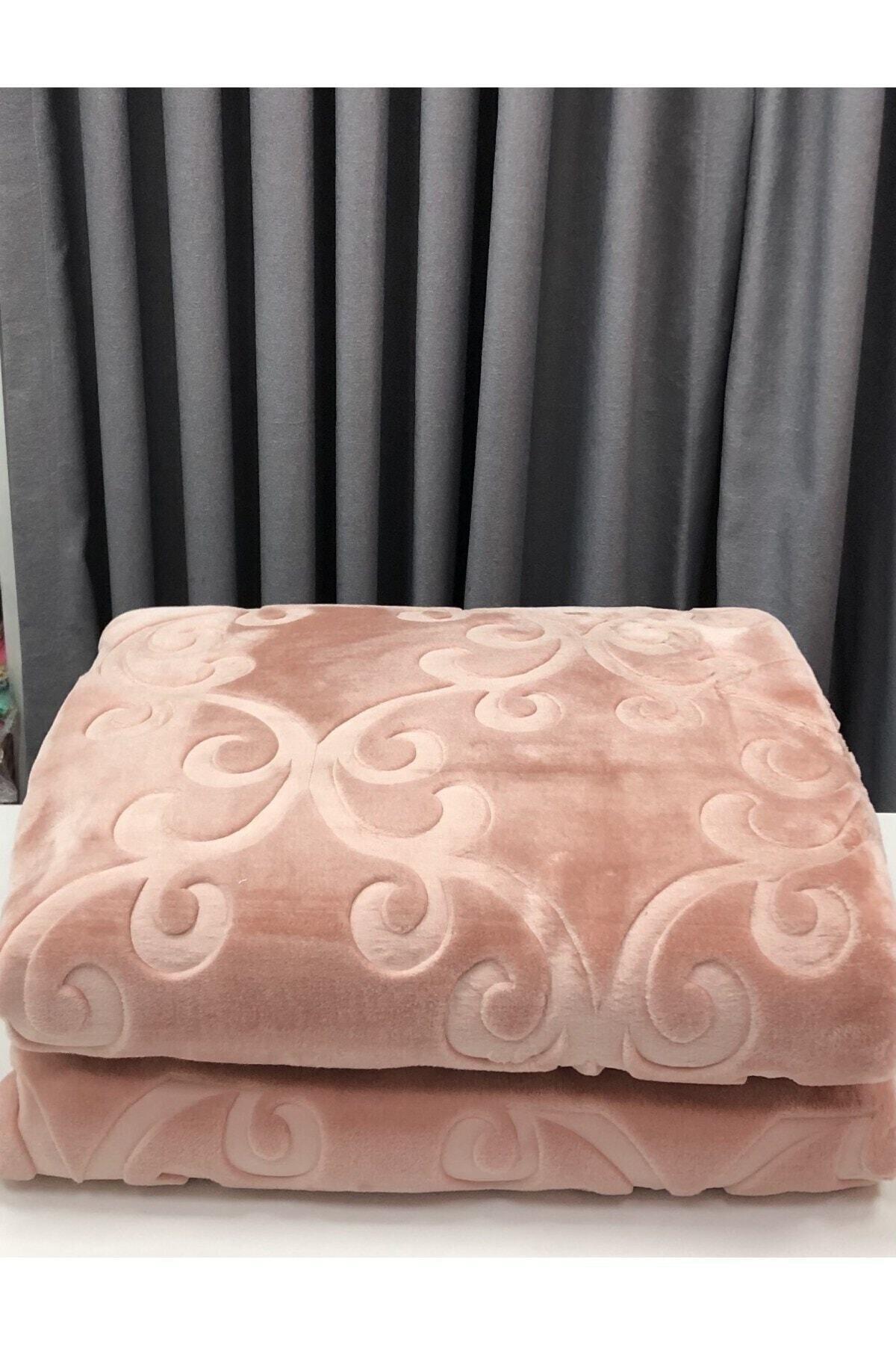 Elegans Pudra Çift Kişilik Battaniye