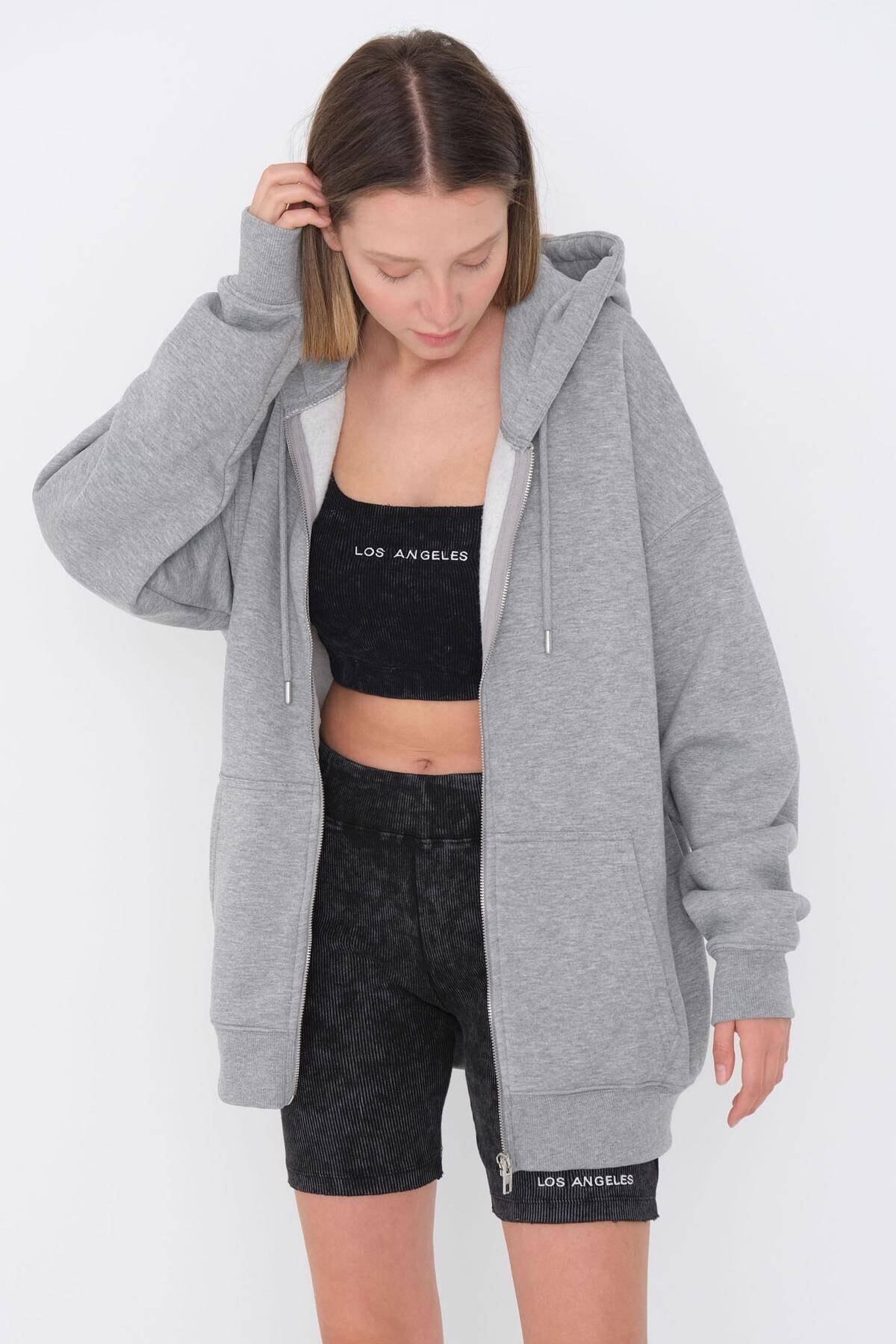 Fermuarlı Sweatshirt H9476 - G12v3