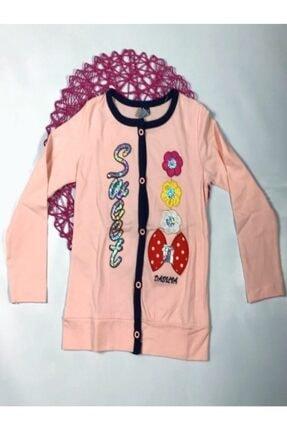 Kız Çocuk Pulpayet Nakışlı Düğmeli Penye Hırka P199S2290