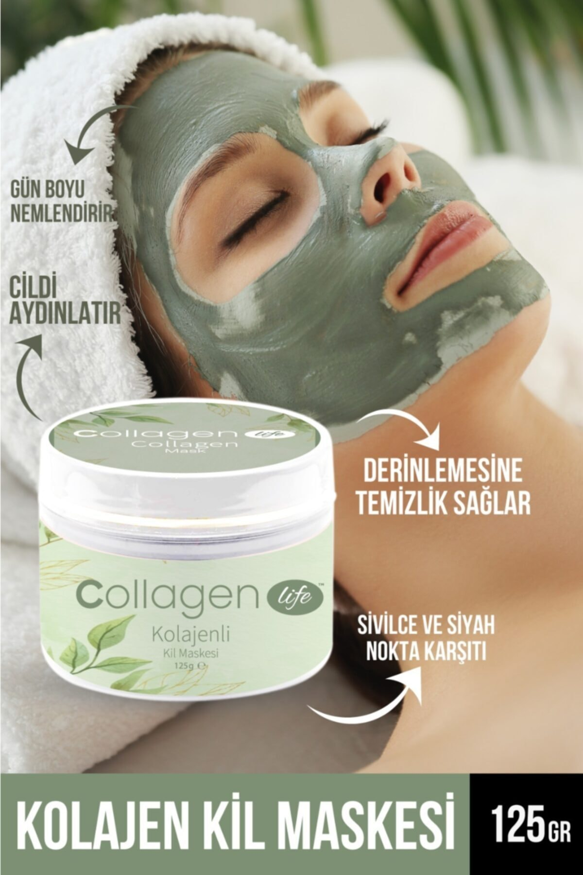 Collagen Lıfe Kolajen Kil Maskesi 125gr