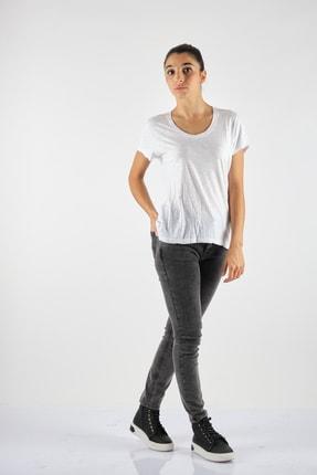 Yuvarlak Yaka Kısa Kol Beyaz Penye T-ShirtJac48h21 JAC48H21