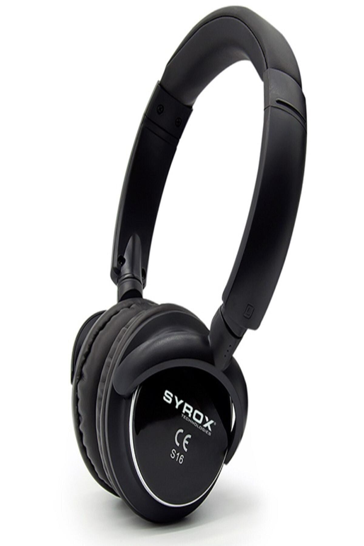 Bluetooth Kulaklık Aux / Microsd Card S16 - Siyah