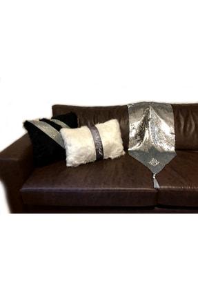 Gümüş/gri Koltuk Şalı/masa Örtüsü gümüş gri koltuk şalı runner