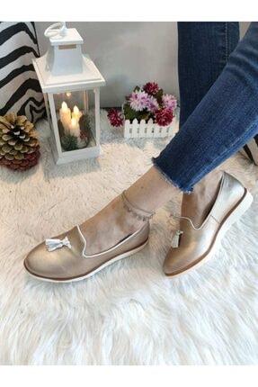 18674 Altın Kadın Ayakkabı