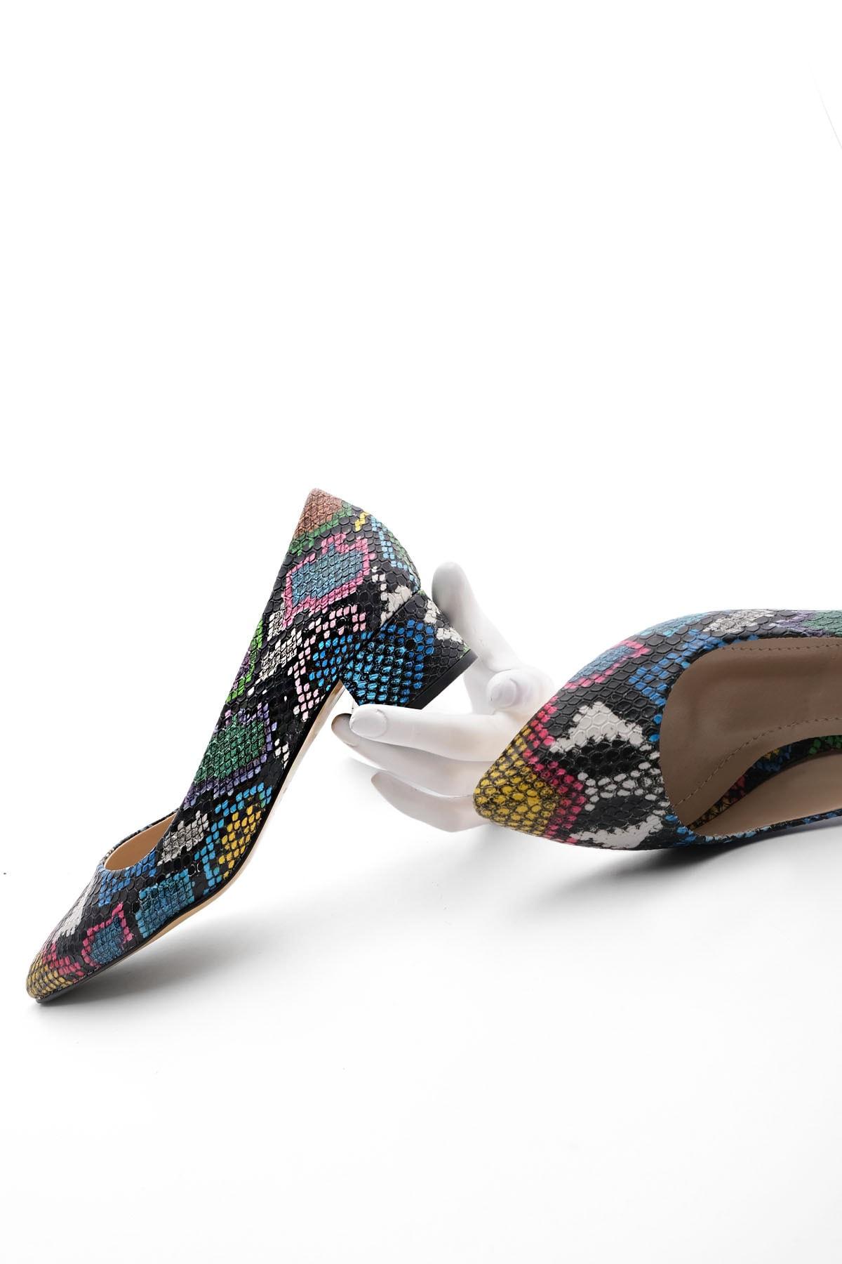 Kadın Günlük Klasik Topuklu Ayakkabı Apuntemulti 1