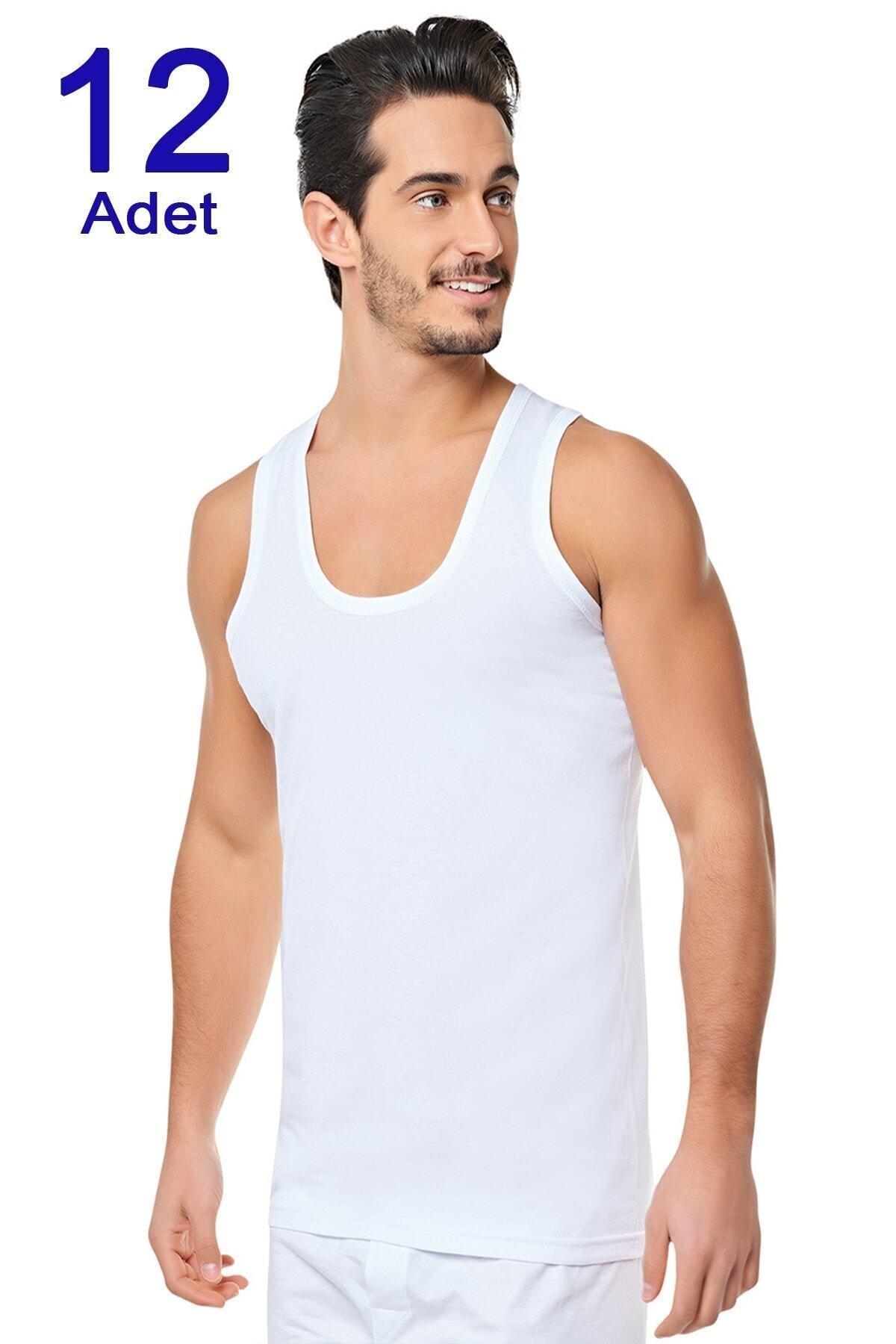Yıldız Erkek Penye Atlet 12 Adet Beyaz 0001