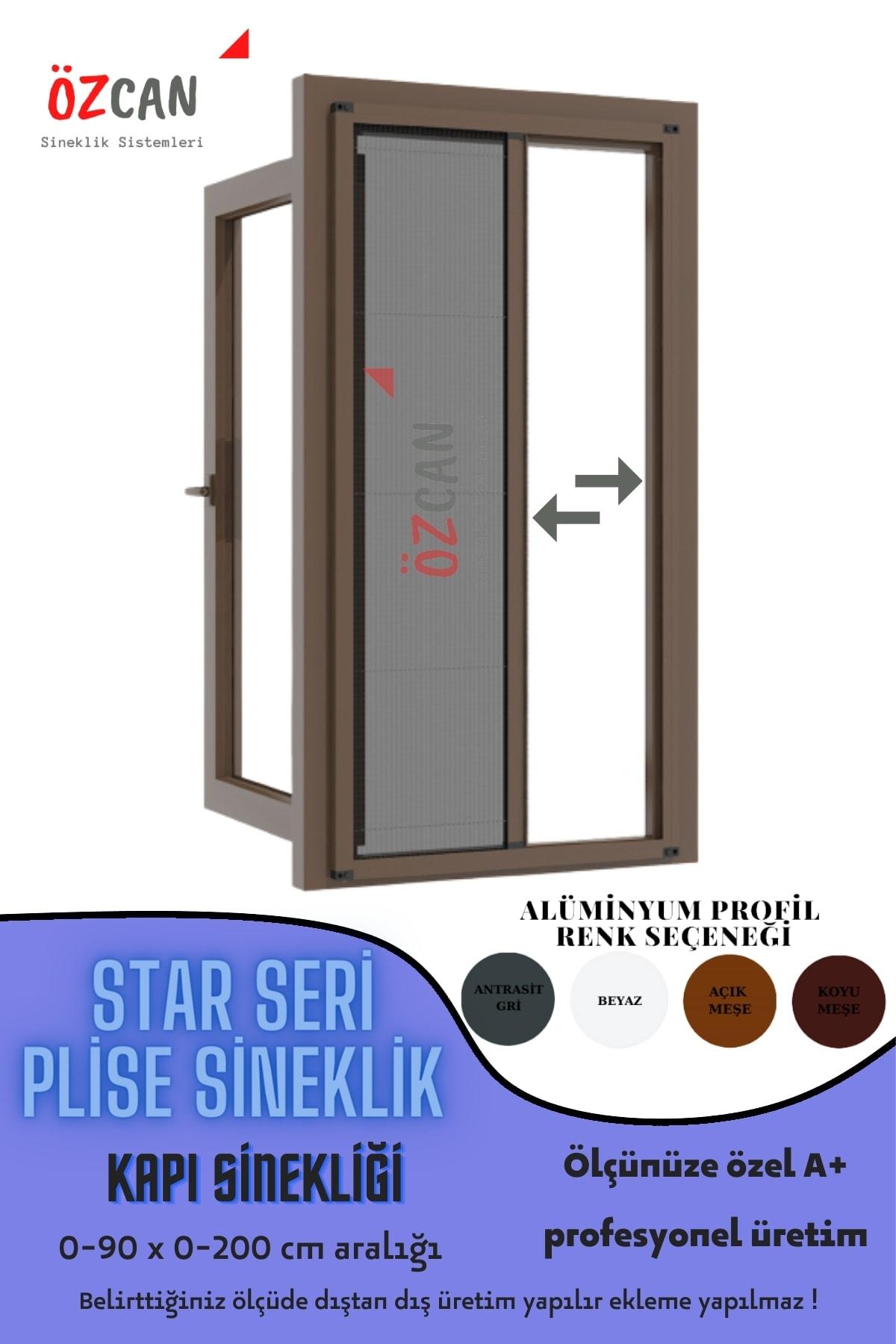 Plise Pileli Sürgülü Sineklik 0-90 X 0-200 Cm (çelik Kapı, Ahşap Kapı ,pimapen Kapı) Pilise Sineklik