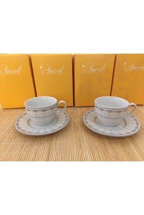 Bone China 2'li Kahve Fincanı Seti ancel-1