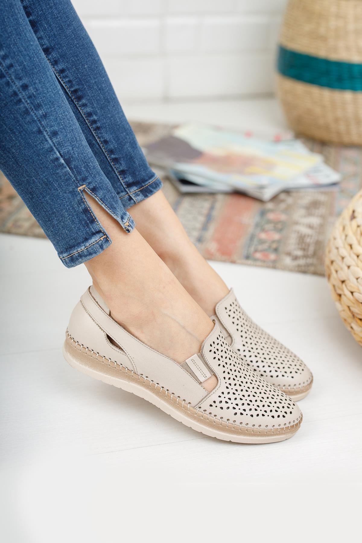 Hakiki Deri Kadın Ayakkabı