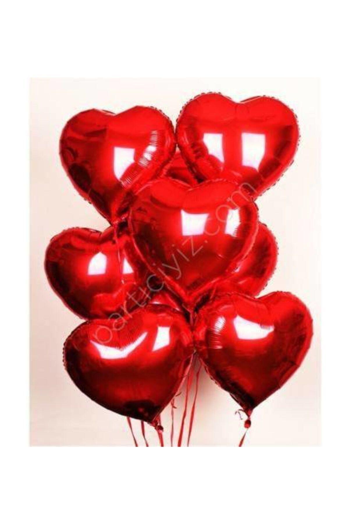 Kalp Folyo Balon 40 Cm 10 Adet Kalp Folyo Balon Seti Kalpli Balon Folyo 40 Cm 10 Adet Fiyatıdır