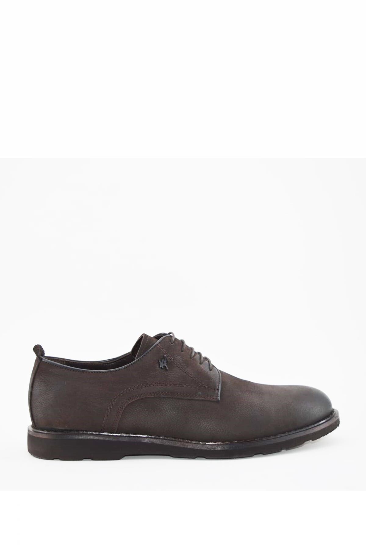 Erkek Kahverengi Deri Günlük Ayakkabı I180118-2 M 1000