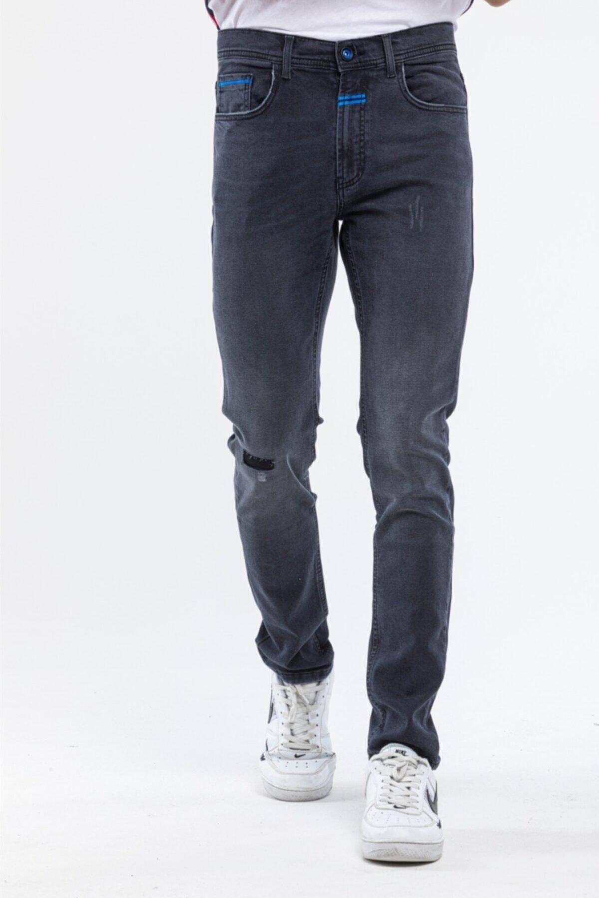 Erkek Siyah Skinny Fit Jean