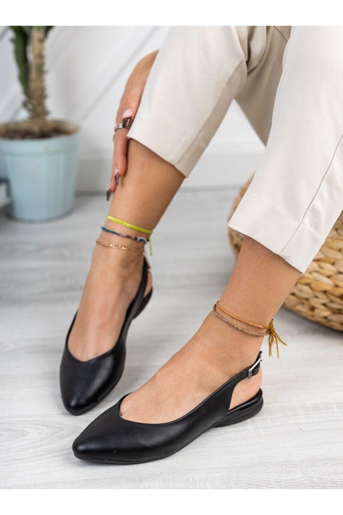 Babet Siyah Cilt Ayakkabı