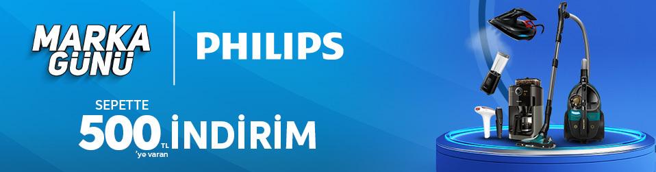 Philips Marka Günü - Elektrikli Ev ve Kişisel Bakım Aletlerinde Sepette 500 TL'ye Varan İndirim