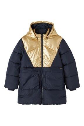 Picture of 13192673 Nkfmitta Long Puffer Jacket Lacivert-gold 12 Yaş
