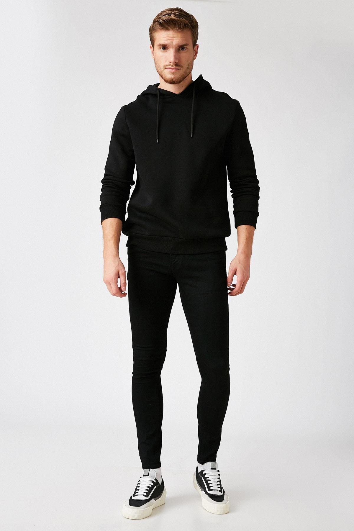 Erkek Siyah Jeans 1KAM43001MD