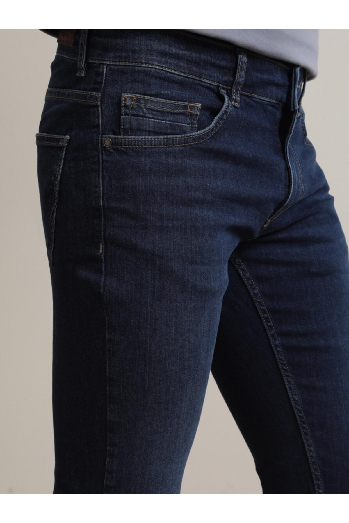 Erkek Lacivert Denim Pantolon