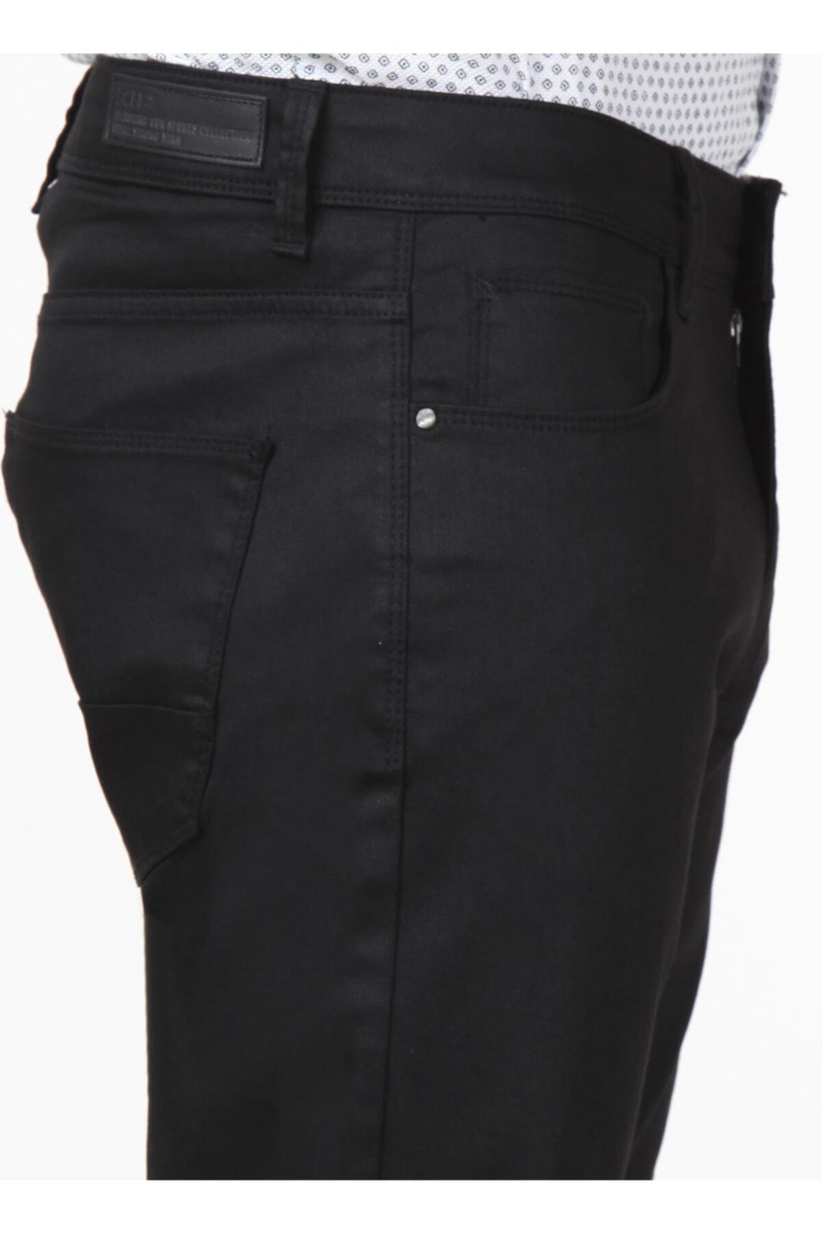 Erkek Regular Fit Düz Siyah Pantolon