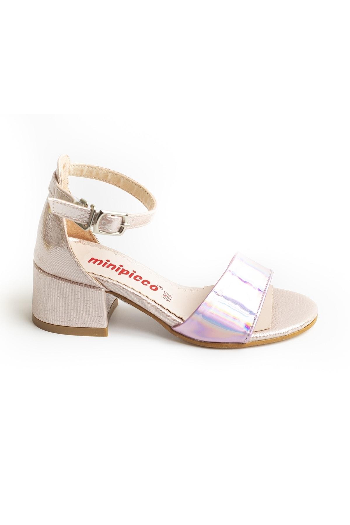 Kız Çocuk Pembe Özel Tasarım Abiye Ayakkabı