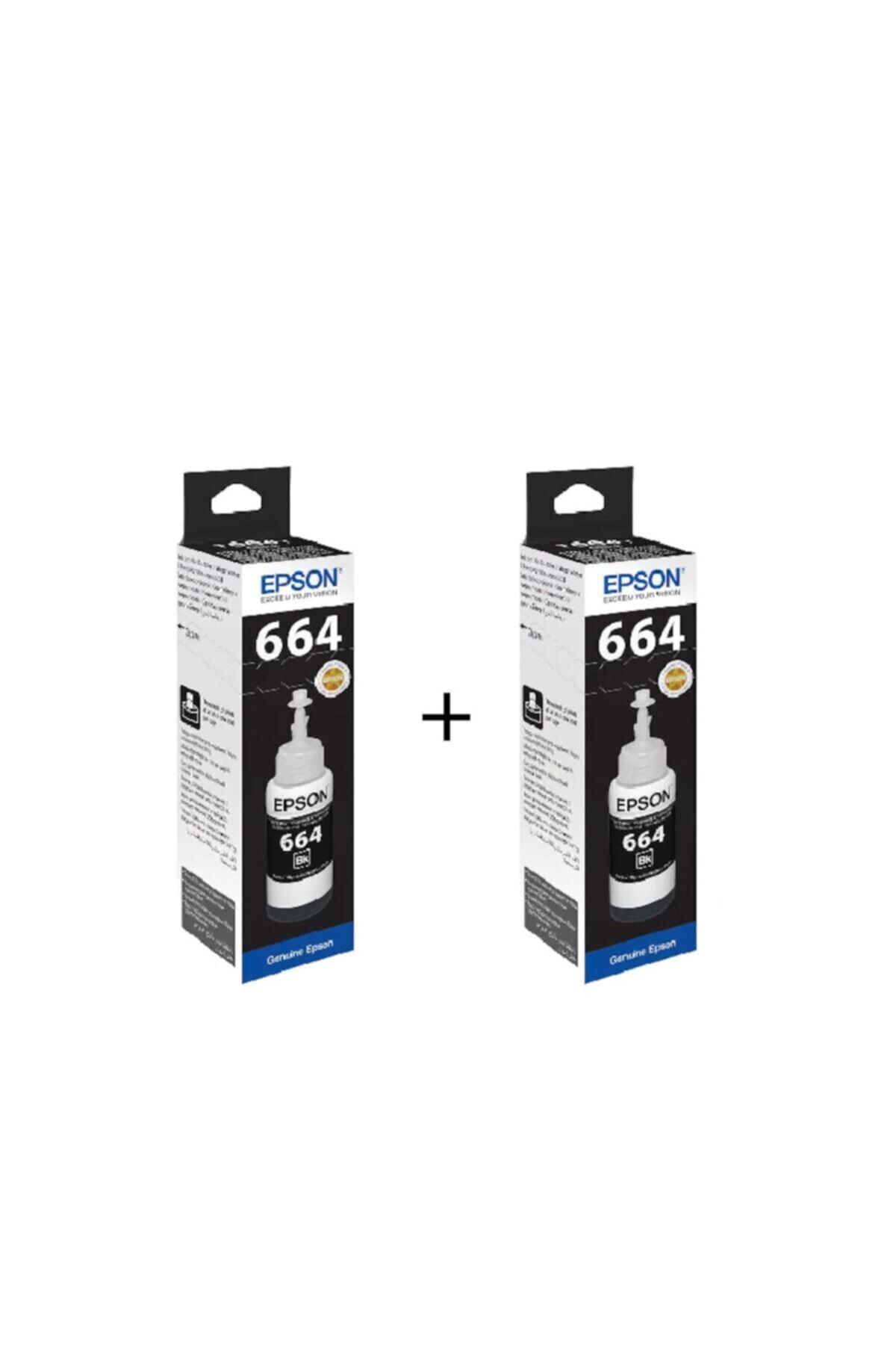 L3060 Yazıcı Mürekkebi - T664 Orijinal Siyah Mürekkep 2'li