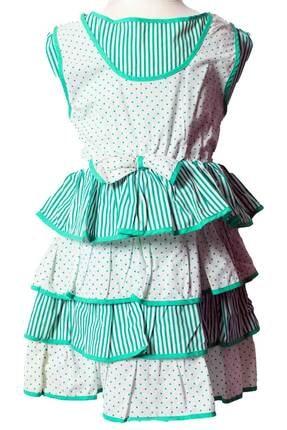 تصویر از Askr Kız Çocuk Fıfırlı Etekli Jile Elbise 5205