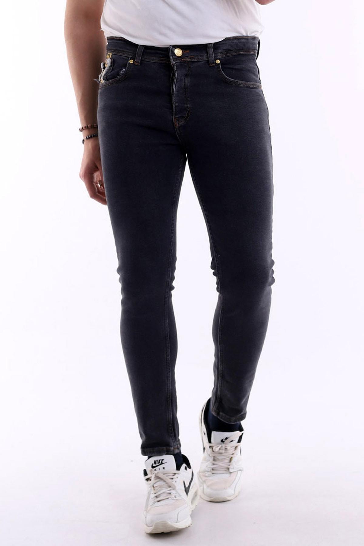 Likralı Rahat Giyim Kot Pantolon,şık Görünümlü Özel Günler Iin Giyilebilir