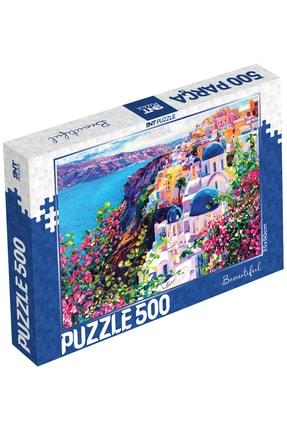 500 Parça Puzzle - 500'lük Puzzle - 500 Parça Yapboz 10 Model 2. Seri TYC00228057781