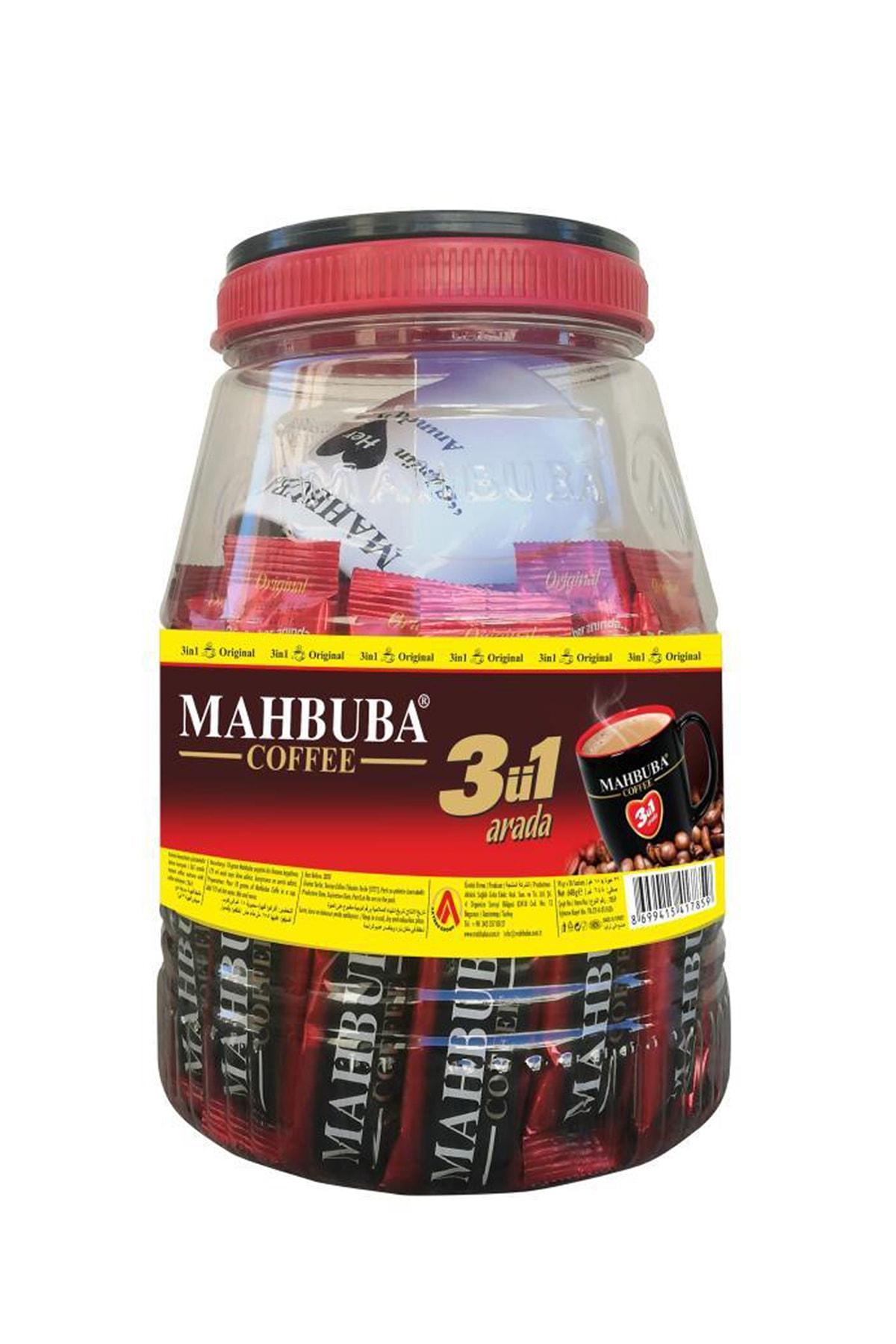Mahbuba 3ü1 Arada Kavanoz Kahve 36x18gr +Renkli Kupa Hediyeli