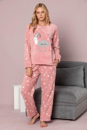 ELİTOL Kadın Pudra Welsoft Pijama Takim 1