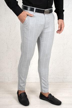 Erkek Gri Çizgili Kumaş Pantolon 2100003 DGAK2100003