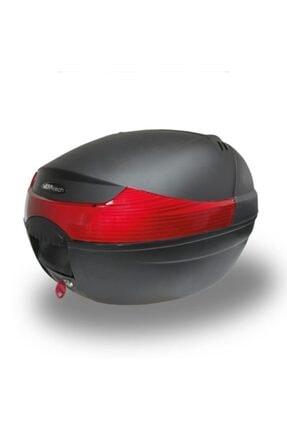 MEFATECH Motosiklet Arka Çanta Topcase Kızaklı Ful Aparatlı Mefa Tech Mf33 33lt Siyah Renk Çanta 0