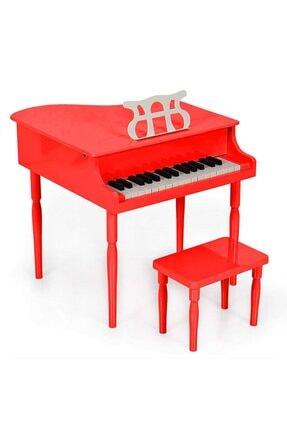 Durbuldum Çocuk Için Ahşap Piyano Bp30rd Nota Sehpası Ve Tabure Hediyeli 0