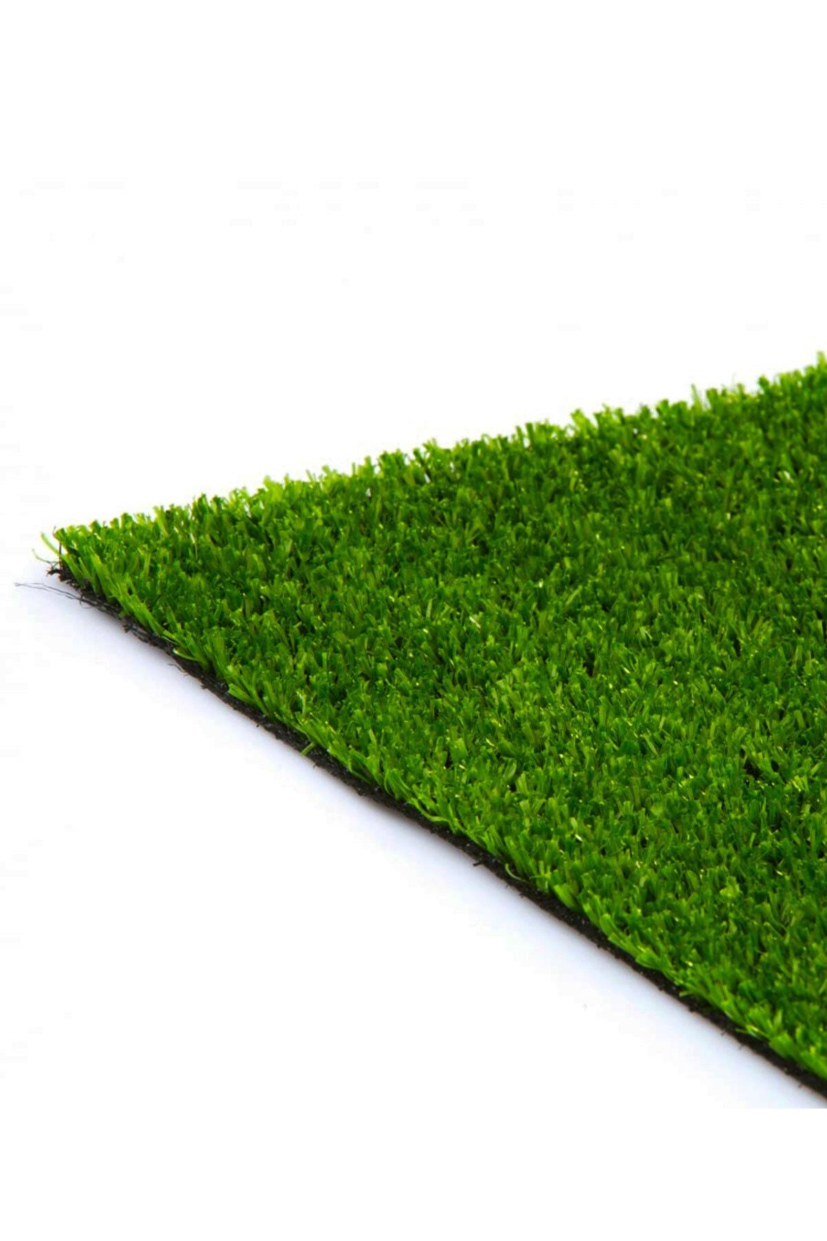 - Suni Yapay Çim Halı Serisi - 7mm - Yeşil - En 2.5 Metre