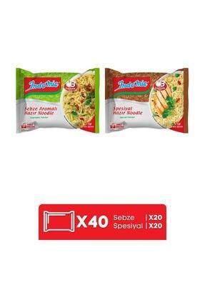 Indomie Indomie 40'lı Mix (spesiyal - Sebze) Hazır Noodle Paket 1
