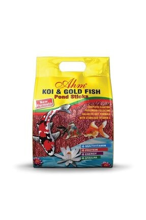 Ahm Koi Goldfish Red Pond Sticks Balık Yemi 1 Kg 0