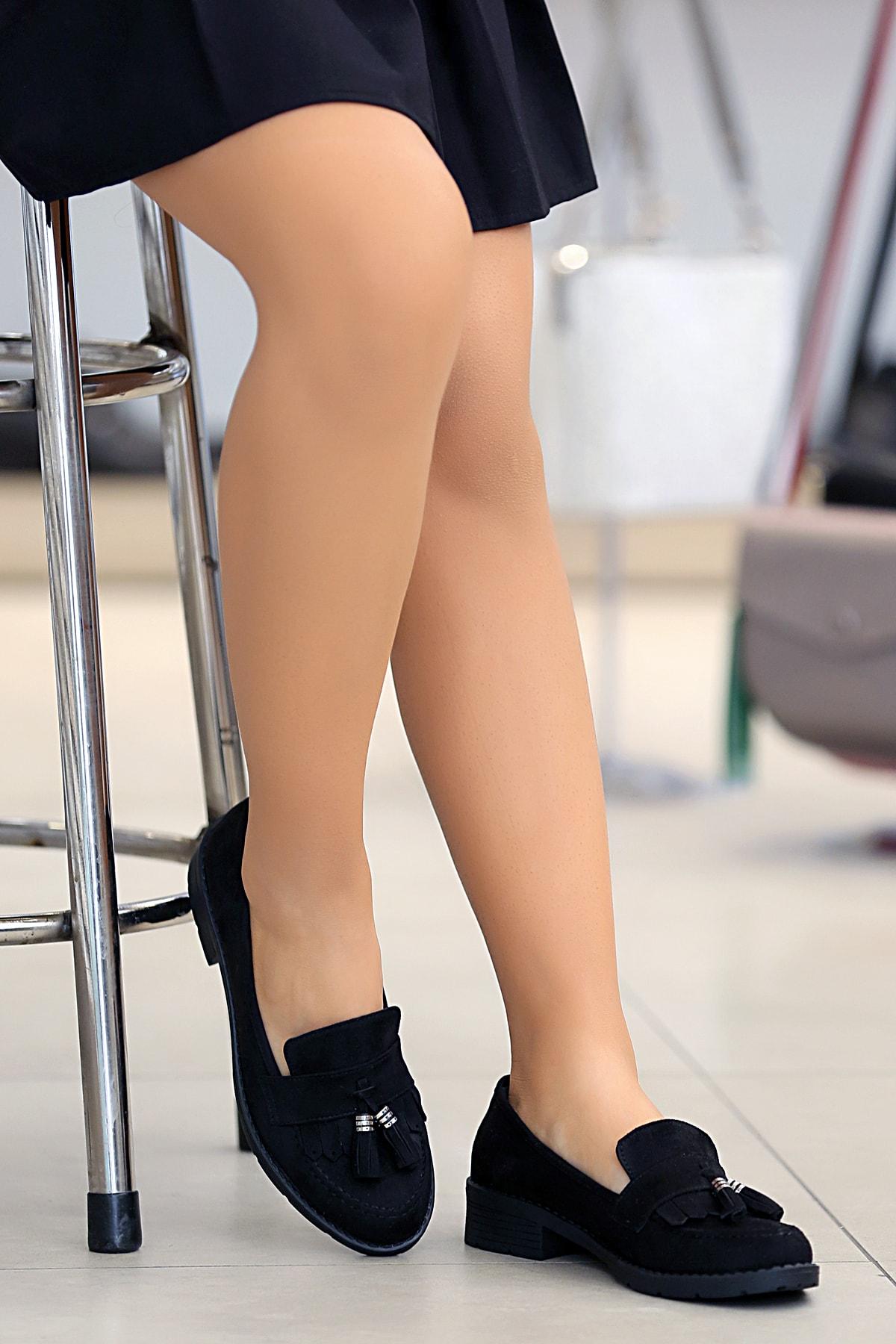 Tekin Ayakkabı Kadın Siyah Günlük Ayakkabı