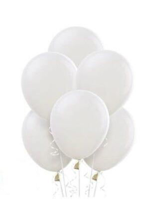 """Deniz Party Store Beyaz Pastel Balon 12 """" inç 25 Adet 0"""