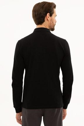 Pierre Cardin Erkek Siyah Slim Fit Polo Yaka Sweatshirt G021GL082.000.1208969 3
