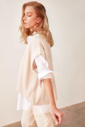 TRENDYOLMİLLA Taş Yaka Detaylı Triko Bluz TWOAW21BZ0014 1